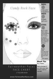 ~Candy Rock featuring Monique Coleman Face Chart