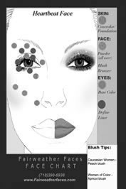 Heartbeat Face Chart- Seen on NYFW 2014 runway Face Chart