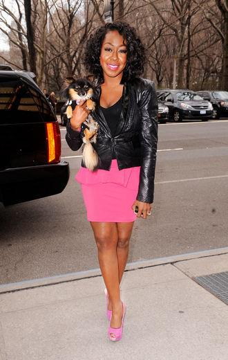 Tichina and dog in NYC