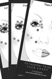 Andrea's Picks- 'Bridal 2013' No Makeup Makeup-Smokey Eyes Face Charts: Bundle  Face Chart