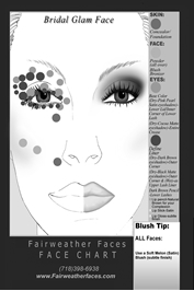 Bridal Glam Face Chart